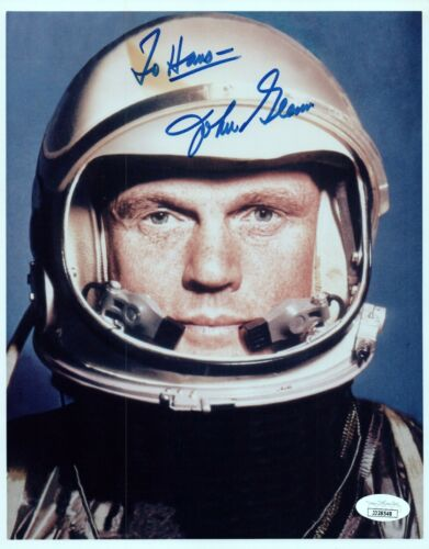 John Glenn Astronaut Signed 8x10 Photo with JSA COA