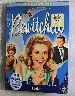 BRAND NEW Bewitched Complete First Season FF DVD COLORIZED Initially in b/w NEW