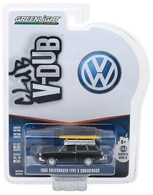 1:64 GreenLight *CLUB V-DUB R8* BLACK 1965 VW Squareback Wagon w/Surf Boards NIP, used for sale  Shipping to India