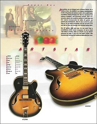 Used, Ibanez Artstar Series AS200AV & AF120BS guitar ad 8 x 11 advertisement print for sale  Flint