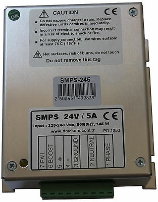 Datakom Smps-245 Generator Battery Charger 24v5a Dc Power Supply