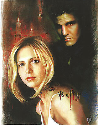 BUFFY 8 X 10 PHOTO ART WITH ULTRA PRO TOPLOADER