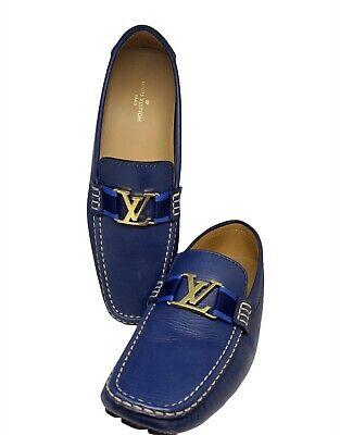 LOUIS VUITTON LV Authentic Mens Loafer Driver Shoes US 11 Excellent