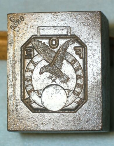 Antique 1930 FOE FRATERNAL ORDER EAGLES WATCH FOB Stamping Die & Fob * MC LILLEY