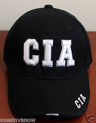 Cia Hat Cap Federal Ballcap Visor Central Intelligence Agency Adjustable