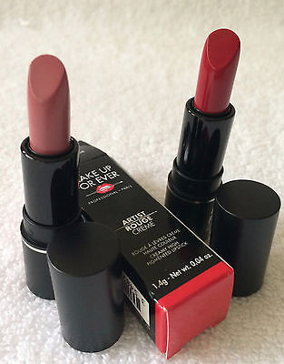 Set of 2: MUFE Lipstick C211 Nude, M401 Red * Artist Rouge Make Up For Ever
