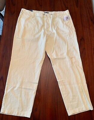 Nautica True Khaki  Pants Mens 42 X 30 Soft Yellow