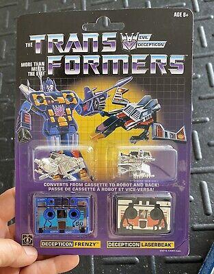 Transformers Decepticon Ravage & Rumble Soundwave G1 Cassette Reissue NEW SEALED