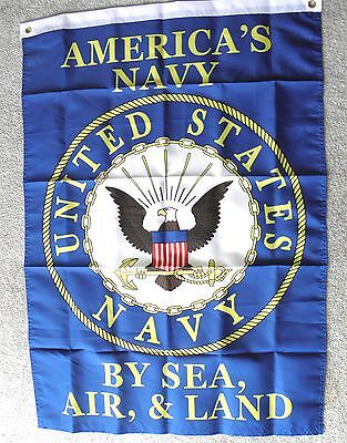 AMERICA'S NAVY SEA AIR LAND USN USA POLYESTER BANNER FLAG 29 X 42""