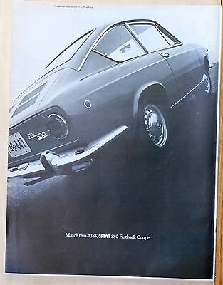 1968 Fiat 850 - Vintage 1968 magazine ad for Fiat - Photo of Fiat 850 Fastback Coupe