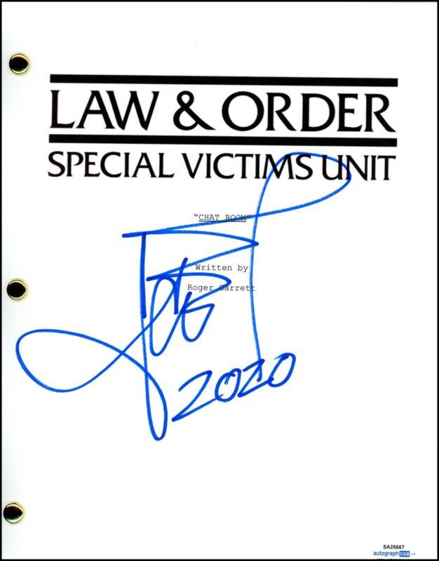 "Ice T ""Law & Order: Special Victims Unit"" AUTOGRAPH Signed Full SVU Script ACOA"
