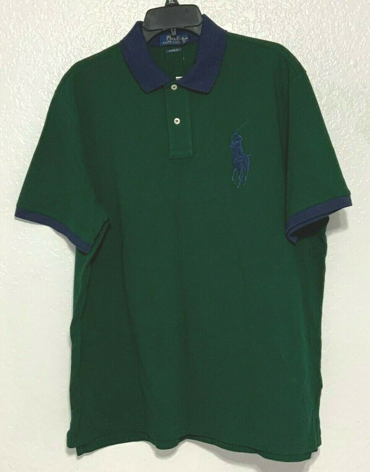 Polo Ralph Lauren Classic Fit Green Mesh Polo Shirt w// Purple Pony XXL NWT NEW