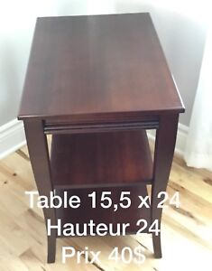 Table d'appoint et meuble TV