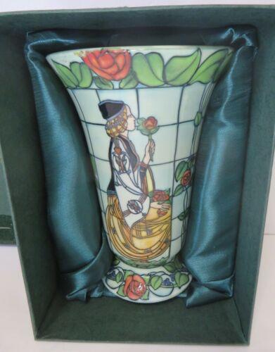 Old Tupton Jeanne McDougall Hand Painted  Vase Rose Princess Porcelain Vase-RARE