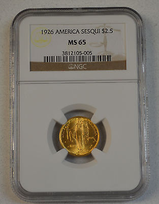 NGC graded 1926 Sesquicentennial Gold Commemorative $2 1/2 MS65 - nice coin!!!!