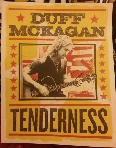 DUFF McKAGAN GUNS N ROSES SIGNED LIMITED EDITION TENDERNESS GRAMMY POSTER 16x20