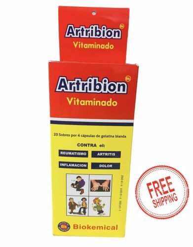 ARTRIBION VITAMINADO 1 DISPLAY 20 Packs x 4 Pills (80 Pastillas) original 100%