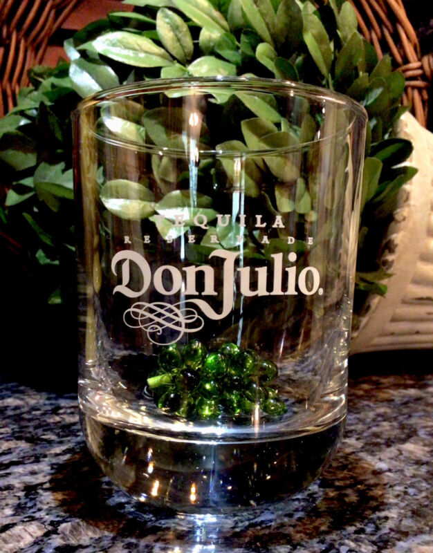 Limited Edition  DON JULIO  Tequila Reservade Satin Etch Rocks Glass  PRISTINE!