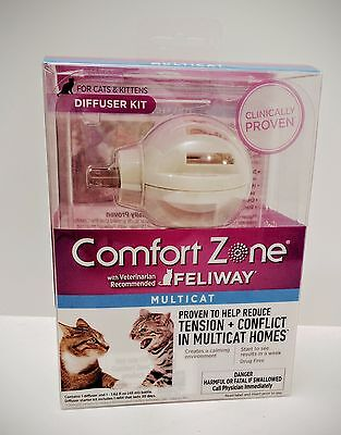 *NEW* Comfort Zone Feliway Multicat Cat Kitten Calming Plug-in Diffuser Kit