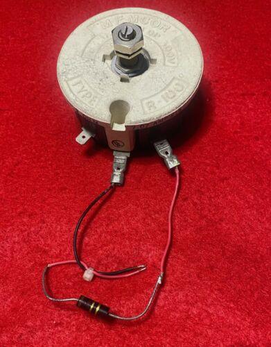 Memcor Rheostat Potentiometer Type R-100 R100 Insulated for 300V 2 OHM 7.07 Amp