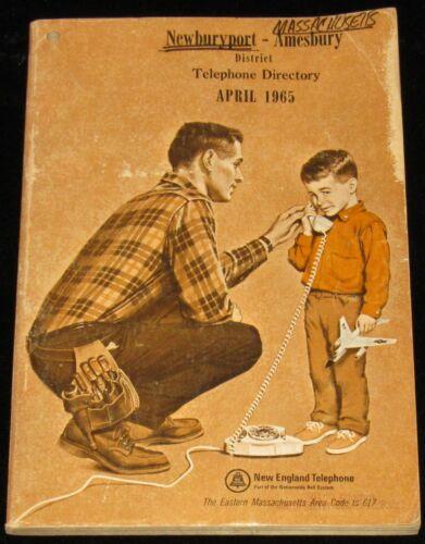 1965 MASSACHUSETTS TELEPHONE DIRECTORY, NEWBURYPORT, AMESBURY