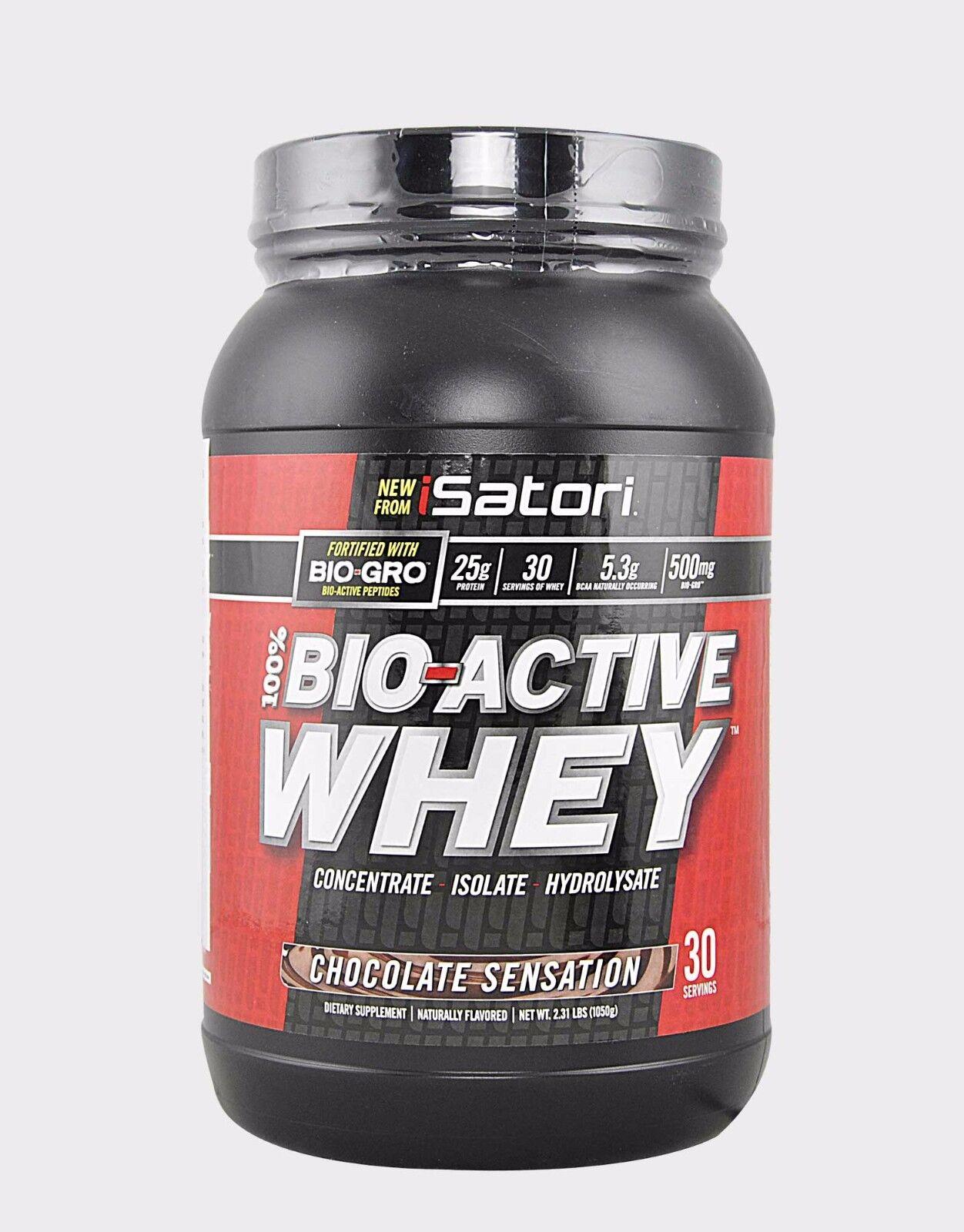 Isatori - Bio-Active 100% Whey Proteine con Colostro Bovino Gusto Fragola