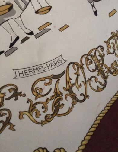 Rare foulard carré en soie la bonne fortune d'hermes