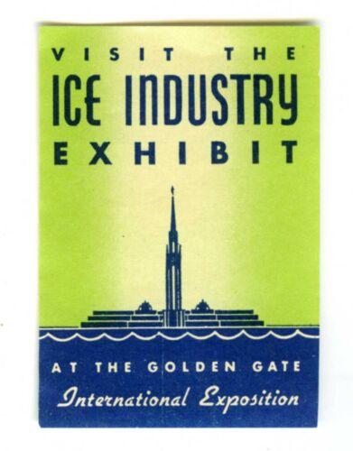 1939 GGIE SAN FRANCISCO GOLDEN GATE EXPOSITION~WORLD