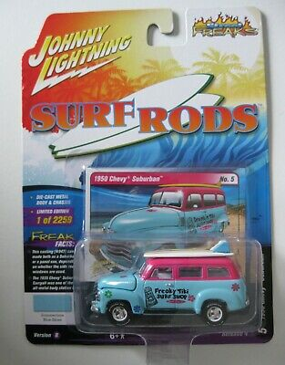 Boards *RR* Johnny Lightning 1:64 NEU 1950 Chevrolet Suburban Tiki Surf Shop