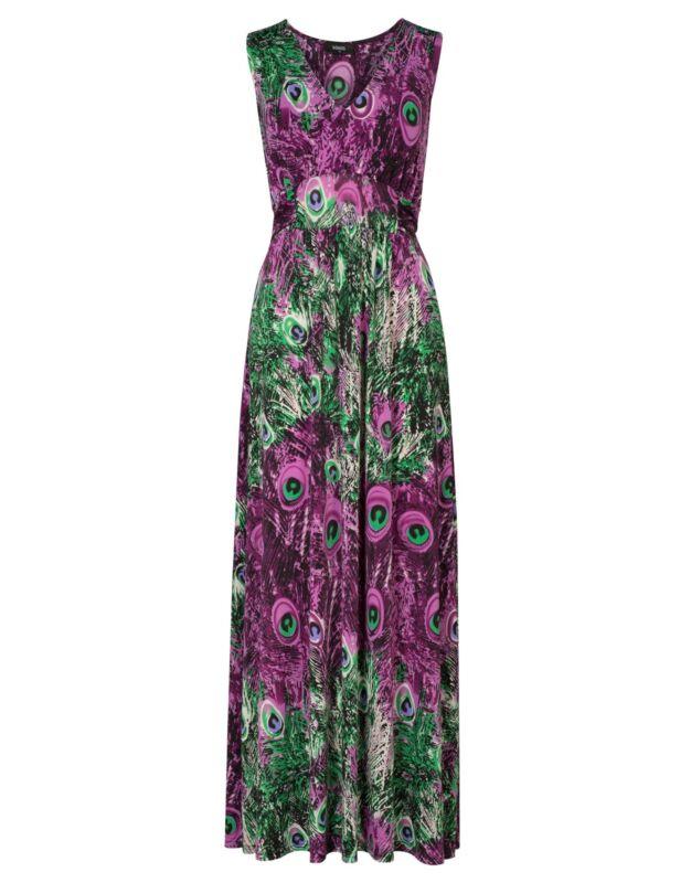 Peacock Maxi Dress | eBay