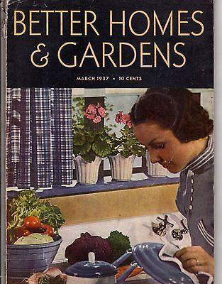 1937 Better Homes & Gardens May - Houses in Utica NY, Weston WVA, Leavenworth