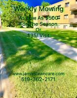 Lawn Mowing, Weekly, Bi-Weekly or occasional