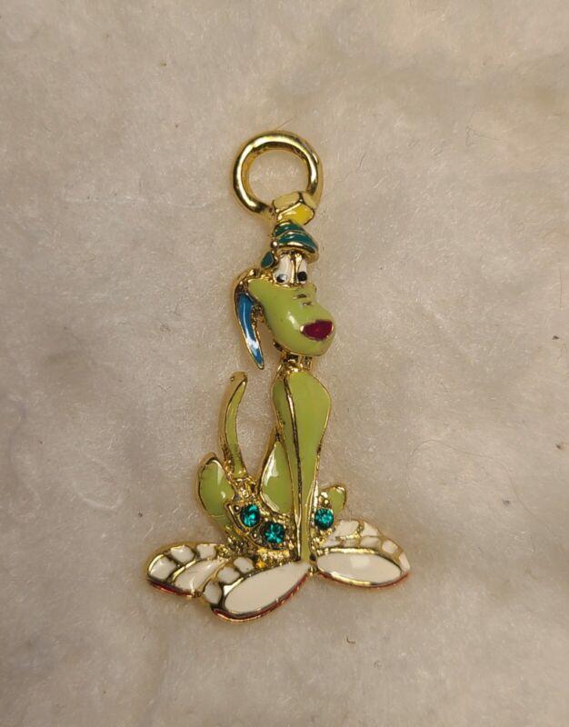 Vintage Disney Key-Chain/Charm~Green Pluto