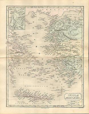 antient geography map by samuel butler 1869 -  insulae marisaegaei