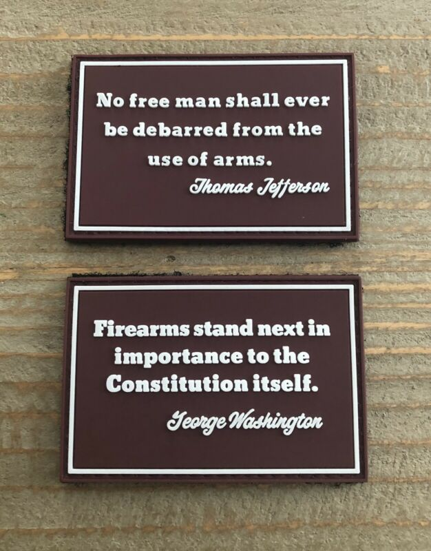 "Second Amendment  Set Of Two 2""x3"" PVC Morale Patch With Hook And Loop"
