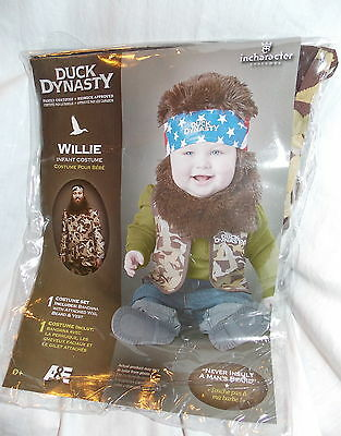 Duck Dynasty Willie Camo Infant Costume Size 18-24 months NEW in Package
