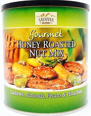 - Savanna Orchards Honey Roasted Nut Mix Cashew Almond Pecan Pistachio, 30 OZ