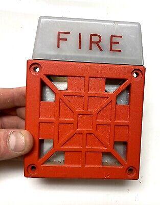 Vintage Wheelock 7002t-24 Fire Alarm Hornstrobe Excellent Working Condition