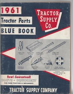 Tractor supply co. 1961 tractor parts blue book vintage catalog softcover