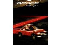 1991 Dodge Ram Pickup Dakota Ram 50 Ramcharger Dlx 36 Page Truck Sales Brochure