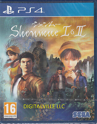 Shenmue I & II PS4 Brand New Factory Sealed Remastered 1 and 2 English&Japanese