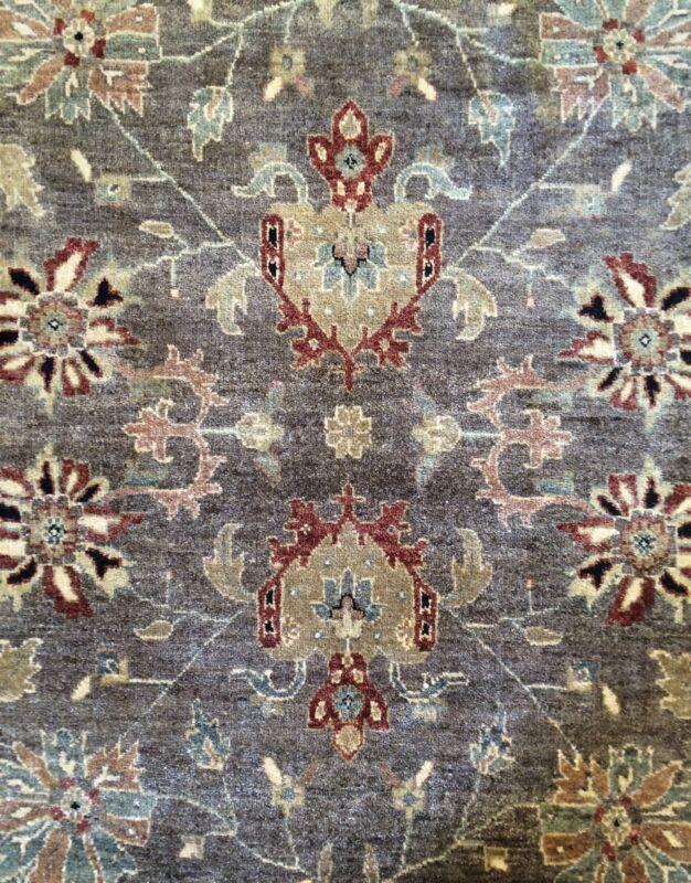 Outstanding Oushak - Indian Oriental Rug - Brown Tribal Carpet - 9.10 X 14.1 Ft.