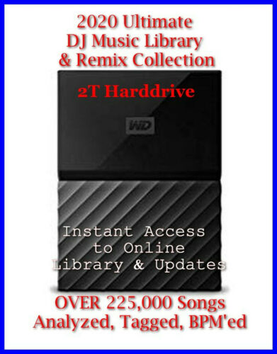 2020 Dj Music Collection Library ~ 2T Drive ~ Fast Shipping + 6 Months Updates