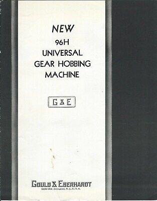 Machine Tool Brochure - Gould Eberhardt 96h Universal Gear Hobbing Tl126