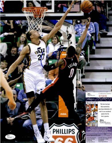Rudy Gobert Signed 11x14 Photo w/ JSA COA #R73816 Utah Jazz France