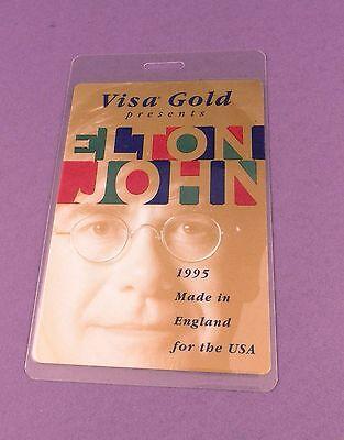 Elton John- Original Backstage Pass - Made in England Tour 1995 - Unused Stock !