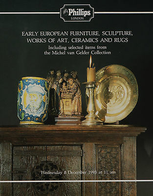 Van Gelder Collection Early Furniture Works Of Art Sculpture Auction Catalogue