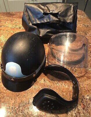 Super Seer Riot Tactical Police Helmet Wflip Shield Visor Ear Pad Baglarge