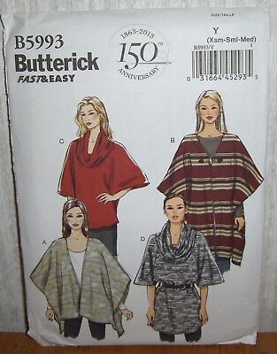 Womens/Misses Wraps Tops & Tunics Sewing Pattern/Butterick B5993/SZ XS-M/UCN