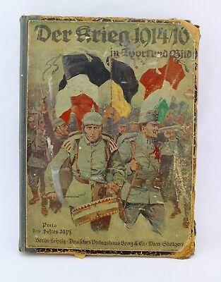 """"""" Der Krieg """" in Wort und Bild 1914-1916 Verlagshaus Bong & Co Militaria Buch"""